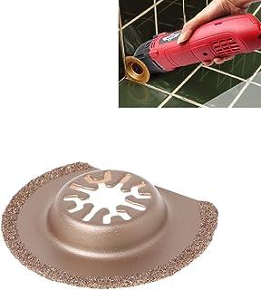 A0127 1 hoja de sierra oscilante, semicircular, 63 mm, diamante, cierre rápido, multiherramienta