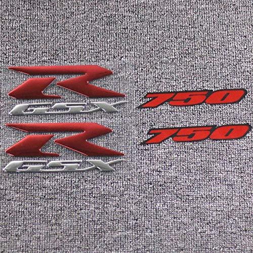 LIWIN Motorradzubehör Motorrad 3D-Reflective GSXR 750 Emblem Fairing Kit Körper Seiten Aufkleber-Abziehbilder for Suzuki GSXR750 GSXR 750 Spornrad Aufkleber