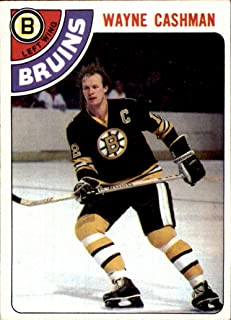 1978-79 Topps #124 Wayne Cashman Boston Bruins (Ex-Mt+) Vintage NHL Hockey Card (Box214Stu)