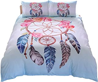 Fan-Ling Fashion Boutique Bedding Set 2pcs/Set,Bedding Deluxe Family Set Sheet Quilt Pillowcase, Embroidered Quilt Cover Sheets Pillowcase, Including 1 pc Quilt Cover,1 pc Pillowcase (C)