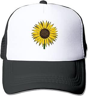 Adult Baseball Hat,Sunflower Mesh Hat Sports Trucker Hat