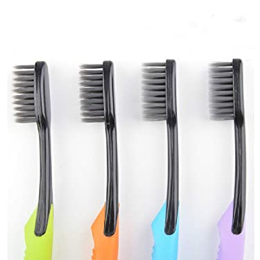 Cand Ultra Soft Adult Toothbrush, Bamboo Charcoal Bristle, Pack of 4