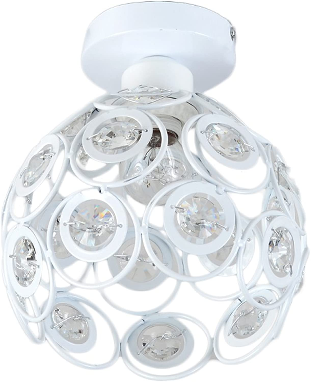 FJH Amerikanischer minimalistischer Gang beleuchtet kreatives modellierendes Decken-Lampen-Hall-Eingangs-Hallen-Kristall-Lampen (Farbe   Weiß)