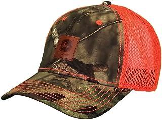 قبعة رجالي من جلد مموه وطحالب البلوط من جون ديري، لون أصفر مموه ومرح، لون أصفر موسي أوك/هاي Vis أصفر، مقاس واحد