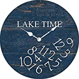XinsFaith Whatever Lake Time-Creative/Modern Clock-Frameless Wall Clock-Decorative Wall Clock-9.5 Inch Battery Operated Quartz Clocks Non Ticking
