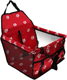 Dolity Puppy Dog Carrier Dog Cat Booster Seat Travel Bag Dog Seat Tote - Red