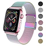 GBPOOT Compatible for Apple Watch Band 38mm 40mm 42mm 44mm, Wristband Loop Replacement Band for Iwatch Series 4,Series 3,Series 2,Series 1,Colorful,38mm/40mm