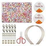 DIY Perlen-Set, 24 verschiedene Arten und Formen, Kinderperlen-Halskette, Kunst und...