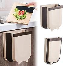 Queta Opvouwbare vuilnisbak, 9 liter, voor keuken, auto, badkamer, kantoor en slaapkamer, grijs-zwart