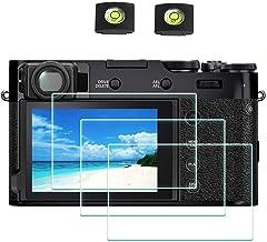 X100V Screen Protector for Fujifilm X100V Fuji Film Digital Camera [3Pack] with Hot Shoe Cover, ULBTER 0.3mm 9H Hardness Tempered Glass Cover Anti-Scrach Anti-Fingerprint Anti-Bubble Anti-Dust