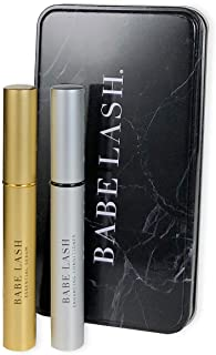 Babe Lash Lush & Luster Kit - Essential Serum (2 mL) & Enhancing Conditioner (3 mL) for Beautiful, Thicker Eyelashes & Brows with Biotin, Natural Extracts, and Peptides- Use on Brows & Lash Extensions