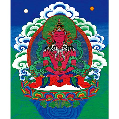 Z.L.FFLZ Tibetisch Tangka Wohnzimmer Veranda Hängende Gemälde Tibetanische Tangka Dekorative Gemälde for Zuhause und Unterkunft (Color : Kostenlos, Size (Inch) : 40x48cm)