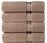 COTTON CRAFT - 4 Pack - Ultra Soft Oversized Extra Large Bath Towels 30x54 Linen...