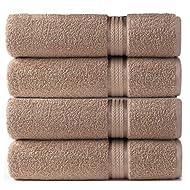 COTTON CRAFT Ultra Soft Luxury Set of 4 Ringspun Cotton Bath Towels, 580GSM, Heavyweight, 30 inch x 54 inch, Linen