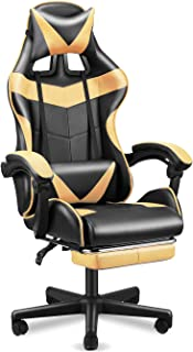 SOONTRANS Gamer Chair, High Back Office Chair, Ergonomic Chair with Footrest, Video Gaming Chair, Gaming Chairs for Adults...