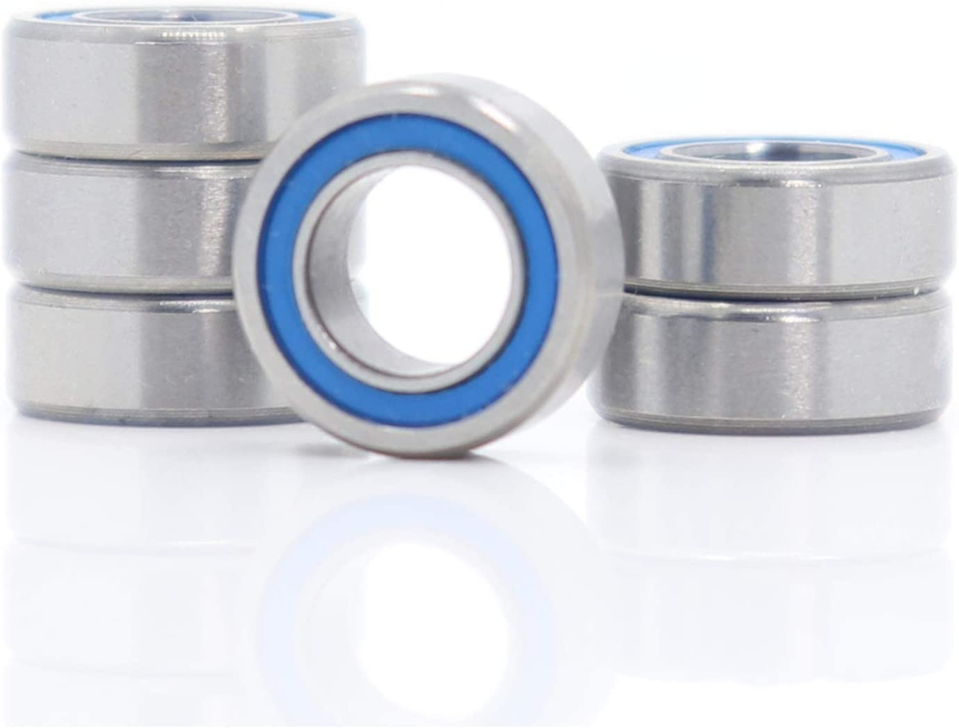 Bearing replacement MR116RS 6Pcs Bearings 6x11x4mm Challenge the lowest price Sealed Rapid rise A Blue