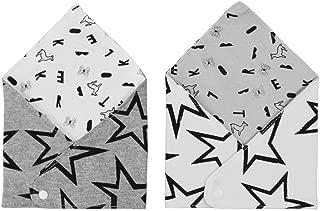 スタイ よだれかけ 涎掛け 三角型 2枚セット 可愛い 星柄 動物柄 コットン キュート お食事エプロン 前掛け 出産祝い プレゼント 新生児 赤ちゃん