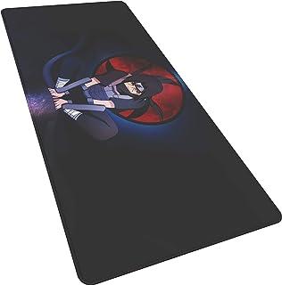 Große Gaming Uchiha Itachi Sharingan G Mouse Pad 900X400X3mm XXL Anime Mauspad Anti Slip Natürliche Gummi Übergroßen Matte mit Durable Genäht Locking Kanten Ideal