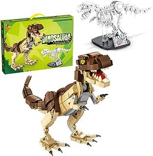 BEENLE Dinosaur Fossils Building Kit 612002 for Kids Building Dinosaur Toys Toddler Creative Thinking 2 Pack Dino Block Playset Kit Educational Kit Stem Toys for 6+ yr Boys Girls (906 PCS)