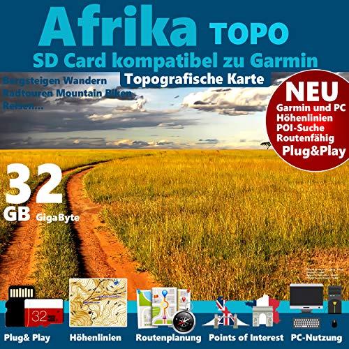 ★Afrika Africa Garmin Karte Outdoor Topo GPS Karte microSD für alle Garmin Navigationsgeräte ★