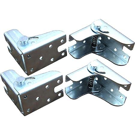 Lot de 4 charnières de table pliantes - Pieds à charnières autobloquants - Pieds pliables invisibles - Pour pieds pliants, établis et tables pliantes de cuisine