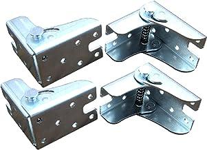 Lot de 4 charnières de table pliantes - Pieds à charnières autobloquants - Pieds pliables invisibles - Pour pieds pliants,...