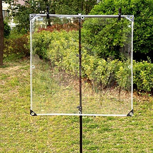 QIAOH Lona impermeable de PVC transparente con ojales, 1 x 3 m, resistente al polvo, resistente a la lluvia, cubierta de jardín, para plantas, jaula de mascotas