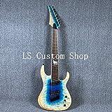 Full Size 6/8 Strings TL Electric Guitar ASH Body Strings Thru Body Fanned Frets Daddario Strings (8 strings)