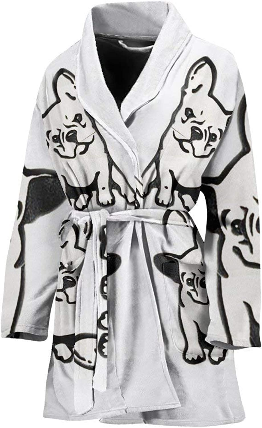 Deruj French Bulldog Art Print Women's Bath Robe
