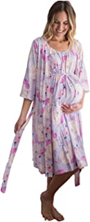3 in 1 Maternity Labor Delivery Nursing Hospital Birthing Gown & Matching Robe