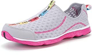DoGeek Water Shoes Womens Mens Slip-On Quick Drying Aqua Shoes - Water Shoes with Drainage Holes for Swim,Aqua Surf,Beach,Wetsuit Trainers etc -Breathable Summer