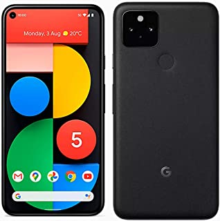 Google Pixel 5 5G (2020) GTT9Q 128GB Factory Unlocked Smartphone (Just Black) - International Version (Just Black)