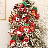 Gudotra 12pcs Medias Navidad Bolsa de Regalos para Calcetin de Navidad Decoraciones para �...