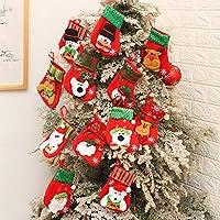 Confezione inclusa: 12pz calze di Natale, 12 stili diversi, come Babbo Natale, Pupazzo di neve, Renna. Dimensione: circa 14x9,5 cm, si prega di misurare la dimensione prima di acquistare ! Metti i tuoi coltelli, forchette, posate, posate e posate nel...