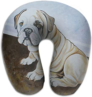 U-Shaped Neck Pillow Pug Dog Painting Pillows Soft Convertible Portable Multifunctional For Travel Reading And Sleeping