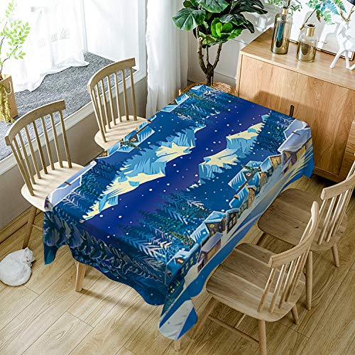 JFAFJ Mantel Antimanchas Verde y Bosque tfzb068 Mantel Mesa Rectangular, Mantel para Mesa de Cocina o Salón Mantel Hules para Mesas Impermeable Lavable Manteles para Interiores 140cmx140cm