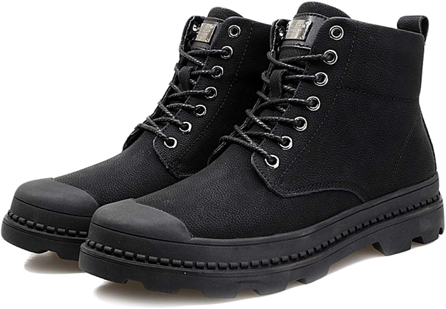 Mens High Help Martin shoes Motorcycle Boots Rubber Sole Work Boots Comfortable Non-Slip Windproof and Warm Casual