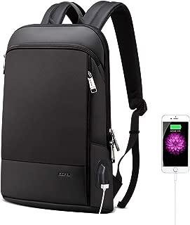 BOPAI リュックメンズ スリムリュック 超軽量ビジネスリュック 盗難防止 リュック薄型 USB充電ポート搭載 防水 ブラック