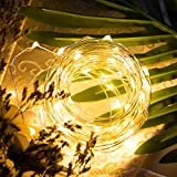 Gorgeous LED Fairy Lights: Each string has 50pcs bright LEDs bulbs on 16 ft silver plated copper wire. Give out warm and romantic lights, ideal for decorating bedroom, table, party, etc. Long Life Batteries : You need 1.5 V batteries, which could sup...