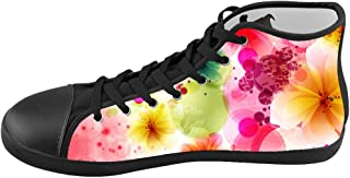Custom Kid's Shoes Colorful Art Flower Top Canvas