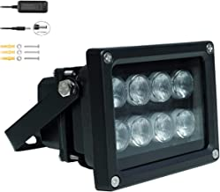JC IR Illuminator 8-Led Infrared Light Wide Angle 90°with Power Adapter for Security Cameras
