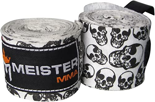 "Meister Adult 180"" Semi-Elastic Hand Wraps for MMA & Boxing (Pair)"