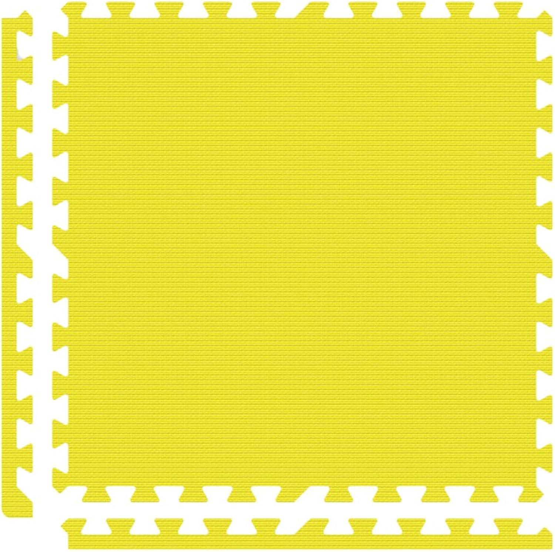Alessco EVA Foam Rubber Interlocking Premium Soft Floors 10' x 10' Set Yellow
