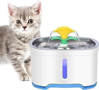 RIOGOO Husdjur katt vatten fontän rostfritt stål, 2,5 dl intelligent automatisk avstängningspump, katt vatten fontän hund ...