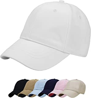 Wheebo Baseball Cap Solid Color Adjustable Dad Hat for Women Girls Lady 100% Cotton Unconstructed Trucker Hat Unisex Style
