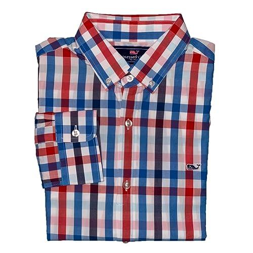 1e17ee34470432 Vineyard Vines Men s Slim Fit Whale Shirt Button Down Dress Shirt