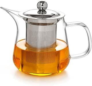 Teapots Heat-resistant Glass Teapot Stainless Steel Filter Red Green Tea Flower Tea Pot Tea 650ml Tea pot