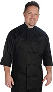 Nanxson Unisex Chef Jacket Hotel//Kitchen Long Sleeve Workwear Uniform Chef Coat White CFM0016