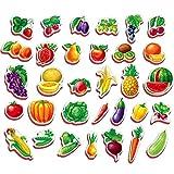 Magnet Enfant Educatif FRUITS ET LÉGUMES 32 pcs - Aimant frigo enfant- Magnet frigo enfant- Aimants Enfants- Fruits et légumes jouets- Jeux aimantes enfant 2 ans Jeux magnetique enfant