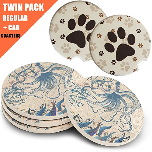These coasters would be a cute small pottery 9th anniversary gifts for him.